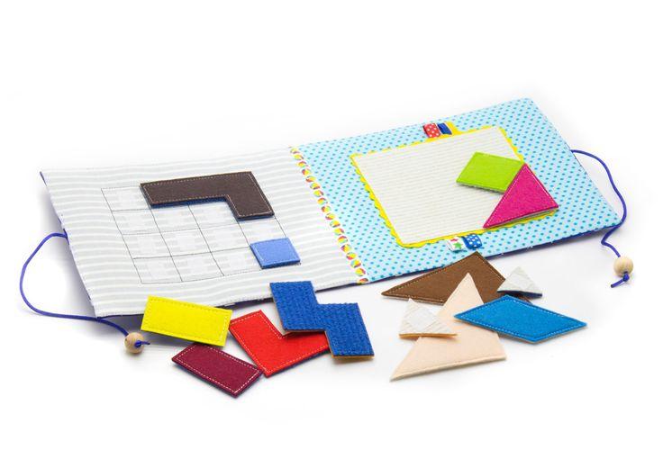 Rustige boek mini  square speelgoed reizen drukke mat