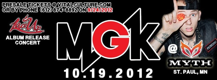 You Know MGK?! Starting at 12N (CST) today we will post a RANDOM MGK lyric. The first person to tweet the correct TITLE of the song to @WeStayOnPoint1 will be entered into a drawing to win FREE tickets and other PRIZES... use hashtag #IKnowMGK . Don't forget to FOLLOW On Point Entertainment on TWITTER @WeStayOnPoint1