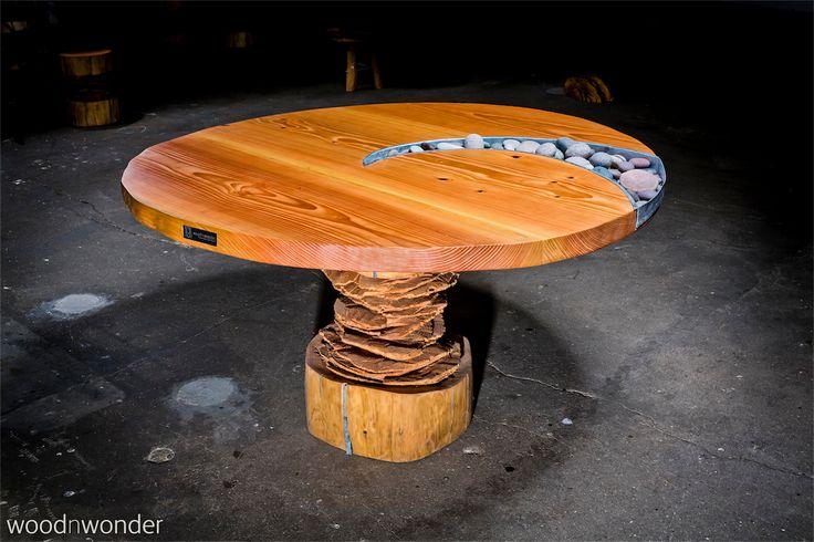 rechteckiger Tisch aus Massivholz auch als Konfereztisch geeignet - danische massivholzmobel douglasie