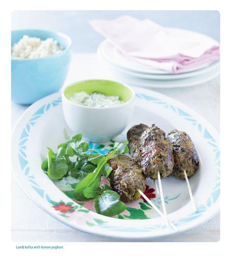 Lamb Kofta With Lemon Yoghurt - The CSIRO Wellbeing Plan for Kids