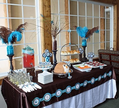owl themed baby shower! CUTE!