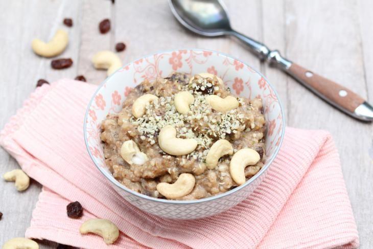 Boekweitpapje   Cashewnoten   Cashewnuts   Rozijnen   Raisin   Ontbijt   Breakfast   Eten   Food   Gezond   Healthy   Dreambody transformation   De Levensstijl   Asja Tsachigova