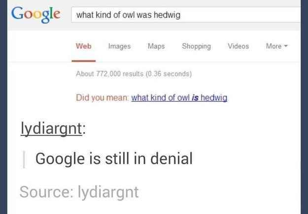 And finally, when Google just couldn't move on....I'm with Google. I'm not moving on either