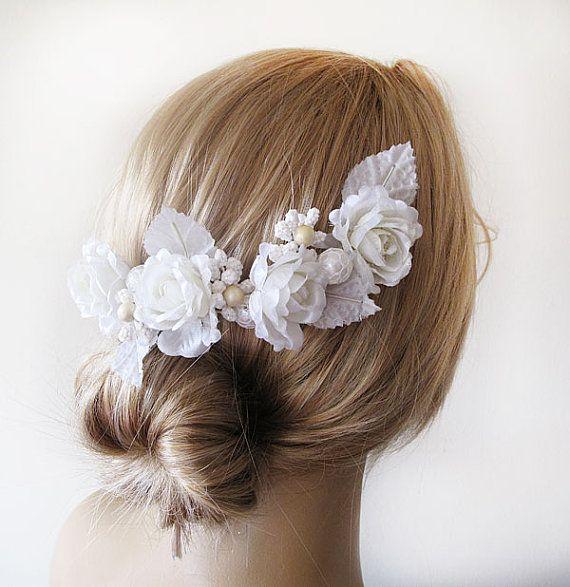 Wedding  Flower Hair Combs  Wedding Hair Accessories  by ADbrdal, $19.00