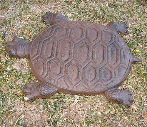 Turtle Stepping Stones Set of 6 Cast Iron Rust Finish by ud, http://www.amazon.com/dp/B004KEGBC8/ref=cm_sw_r_pi_dp_bUWArb19ZAHB9