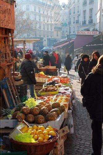 Marché rue Mouffetard. Quartier latin - Paris 5