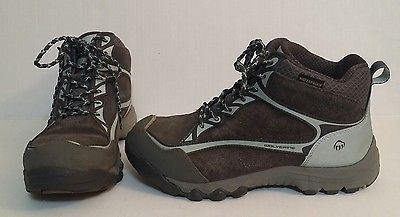 Wolverine Steel Toe Hiking Boots Waterproof Oil Slip Resistant Womens 9M Blue