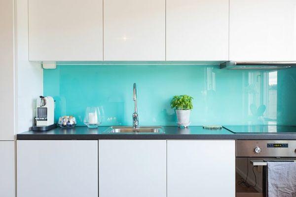glas küchenrückwand fliesenspiegel glas küchenrückwände