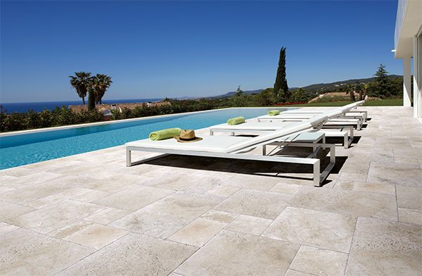 Give your outdoor area the look of a dream holiday location with these elegant tiles.