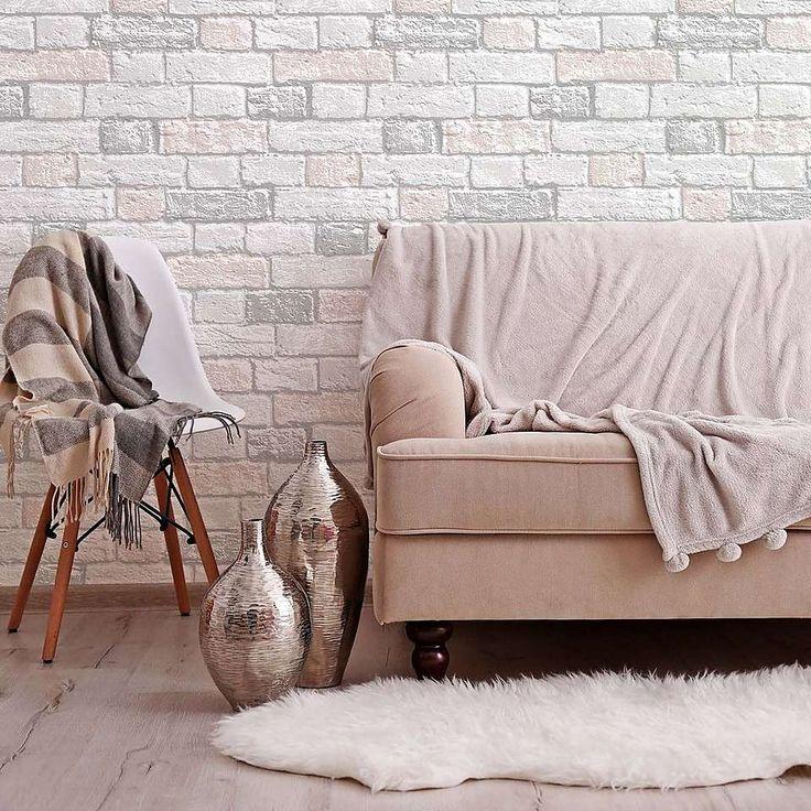 Glitter Brick Blush Dunelm Blush wallpaper, Pink