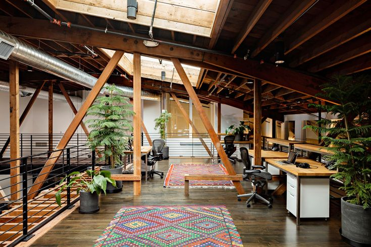 Interior Office Plant Design | Joint Editorial. Rustic Chic Office
