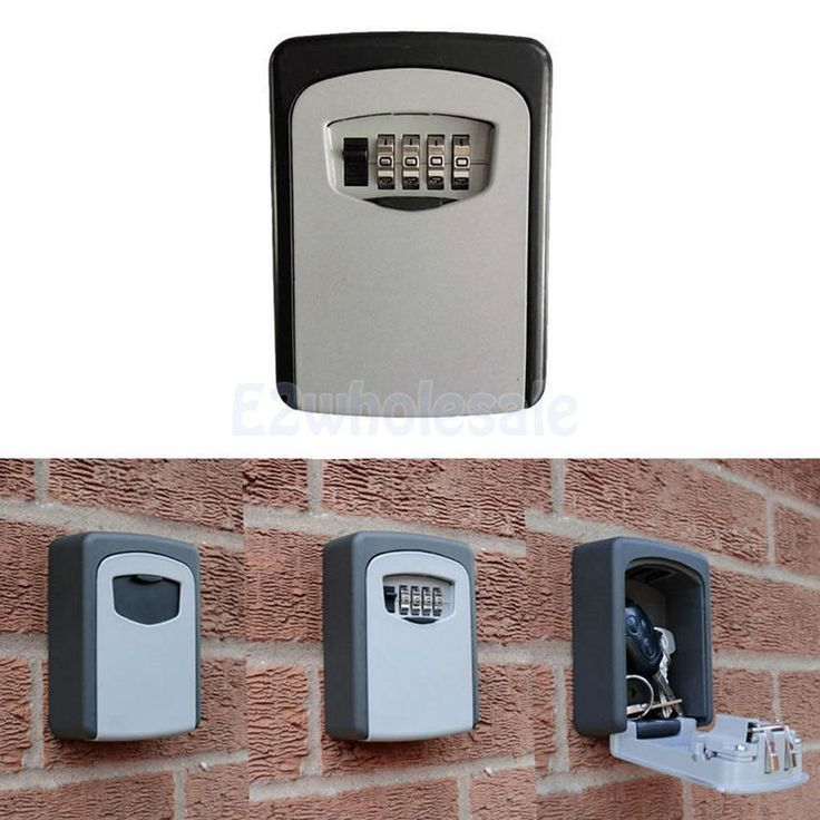 Outdoor Security Steel Wall Mount Key Box W/Combination Lock Safe Store Key