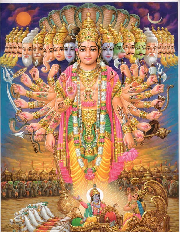 In the Bhagavad Gita, this is where Vishnu says:  Now I am become death, destroyer of worlds.