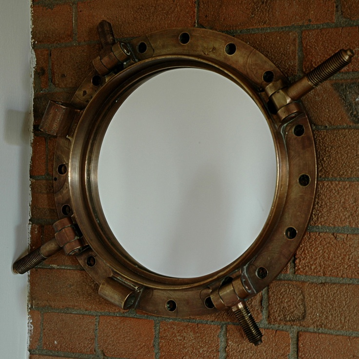 Circa 1900 Salvaged Bronze Porthole Mirror Trend Military Safari Pinterest Porthole