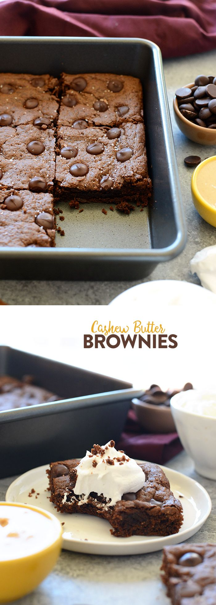 These are the ultimate flourless brownies made with a cashew butter base, no refined sugar, no butter, and of course, no flour!