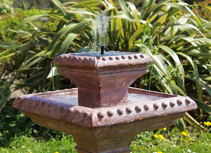 fontaine solaire extérieur  zen cascade oiseaux