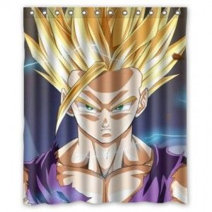 Dragon ball z shower curtain bathroom decor bathroom for Dragon ball z bathroom