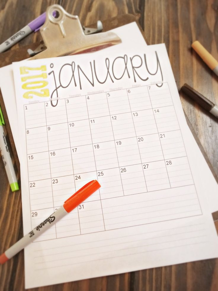 2017 Monthly Calendars - free printables                                                                                                                                                                                 More