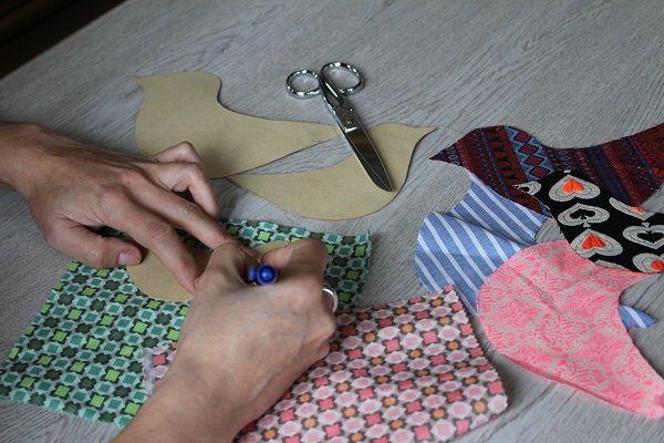 Guirnalda de tela, haciendo la plantilla