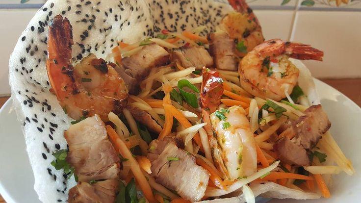 Vietnamese Papaya Prawn & Pork Salad