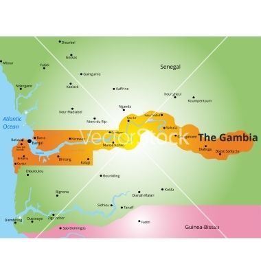 Color map of gambia vector