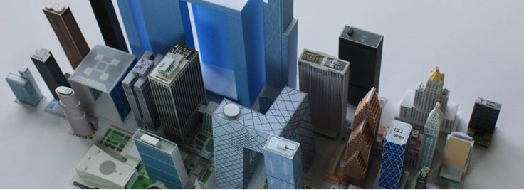 NY, Chicago, Paris , Beijing... paper models- maquetas de papel