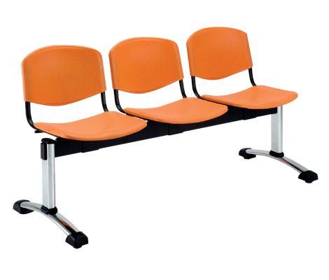 Tandem de 3 Puestos, Adecuado para salas de espera / Disponible en 2 y 4 Puestos - Varios colores