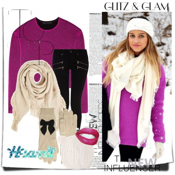 snow by hsama on Polyvore featuring Alexander Wang, Paige Denim, Kate Spade, With Love From CA, Winter, snow, hsamablog and hsama: