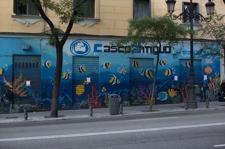 Calle de Bailén, Barrio de La Latina, Madrid 17 de octubre de 2015