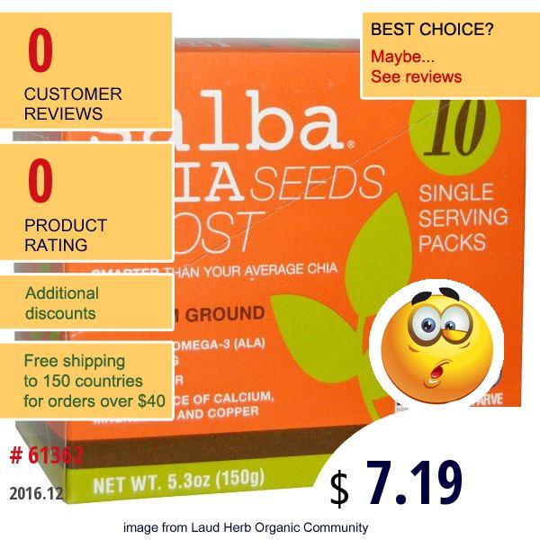 Salba Smart Natural Products #SalbaSmartNaturalProducts #ChiaSeeds