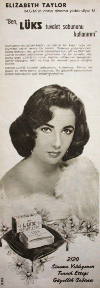 OĞUZ TOPOĞLU : elizabeth taylor 1958 nostaljik eski reklamlar