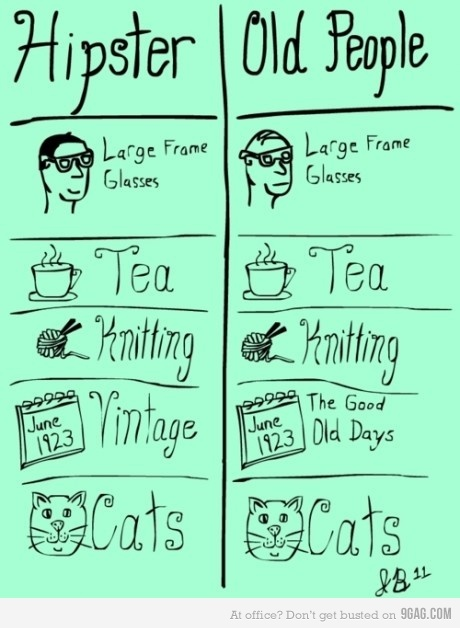 hipster vs. old people funny and so true