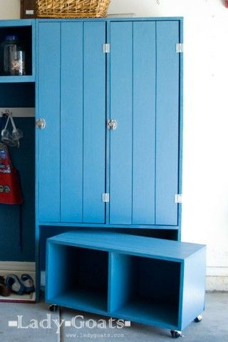 Modular Family Mudroom Double Locker Hutch Love This To