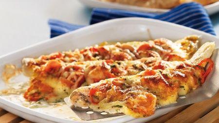 Gebratener Zander mit Tomaten und Mozzarella (Quelle: Fackelträger Verlag GmbH)