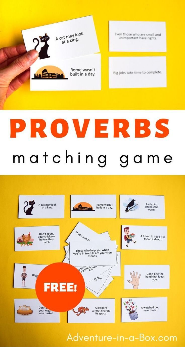 Proverb Matching Game In 2020 With Images Creative Activities