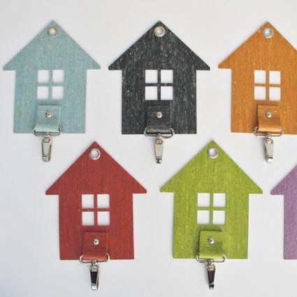 HOME-avain salpa, auton avaimille, koti avaimile, mökki avaimet jne. Myös pyyhkeille.