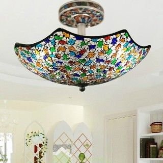 Fashion Umbrella Shape Ceiling Lighting for Bedroom - Mediterranean - Ceiling Lighting - other metro - by Jollyhome