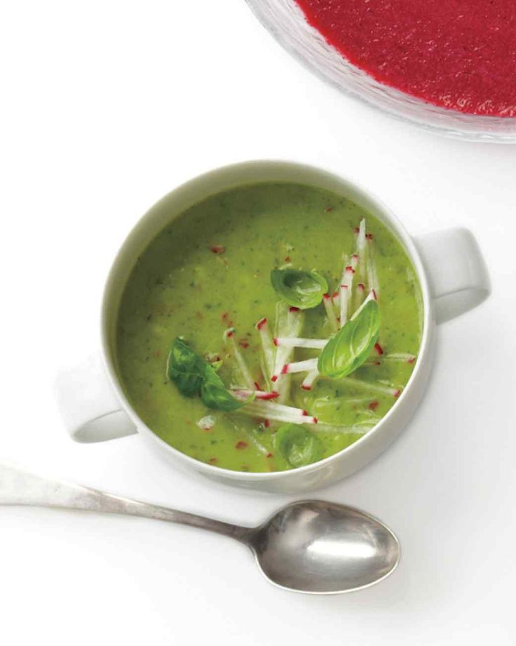 , Radish, and Basil Soup | Martha Stewart Living If you use very cold ...