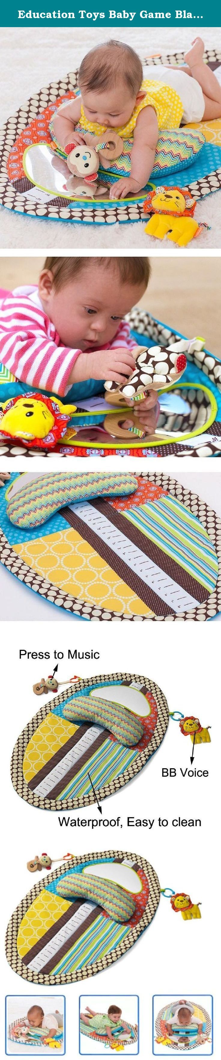 Education Toys Baby Game Blanket Height Carpet Waterproof Urinal Mat. Specifications: Material: Cloth + Polyester fabric Size: 78 x 50 cm Weight: 0.4 kg Age: 0~3 years BB Voice: squeeze/pinch to BiBi voice Music: Play sweet music when press the head of the monkey .