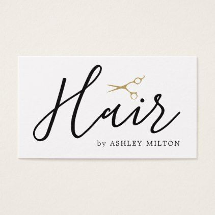 #Elegant Clean White Scissors Hair Stylist Business Card - #beautician #gifts
