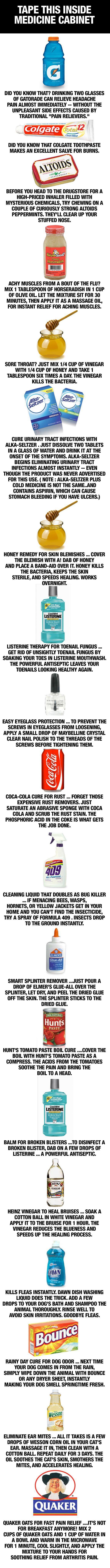 Alternative Uses for Household Items