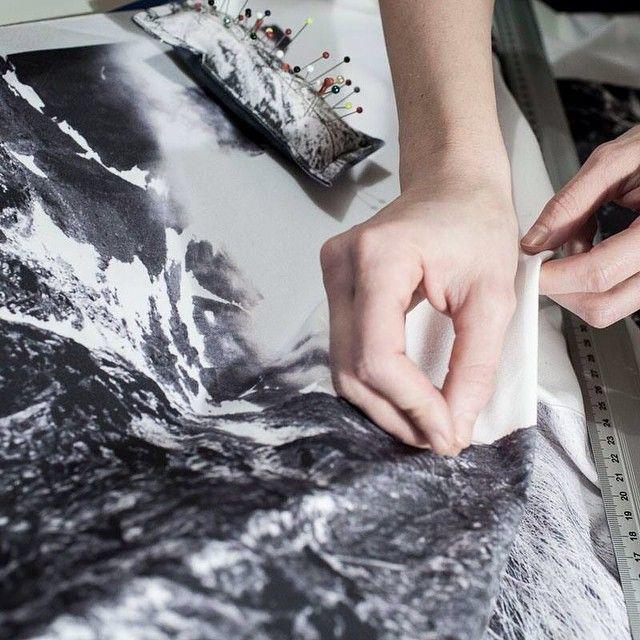 johnny cash & studio work #tatry #mountains #tatramountains #snow #winter #sewing #textiles