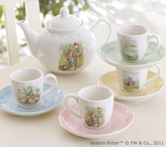 Beatrix Potter tea set? Yes, please.