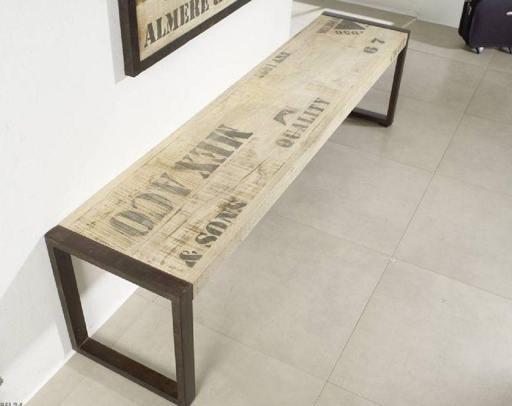 bank mango 140x40x45 natur bedruckt factory 120 holzbank b nke und haus design. Black Bedroom Furniture Sets. Home Design Ideas
