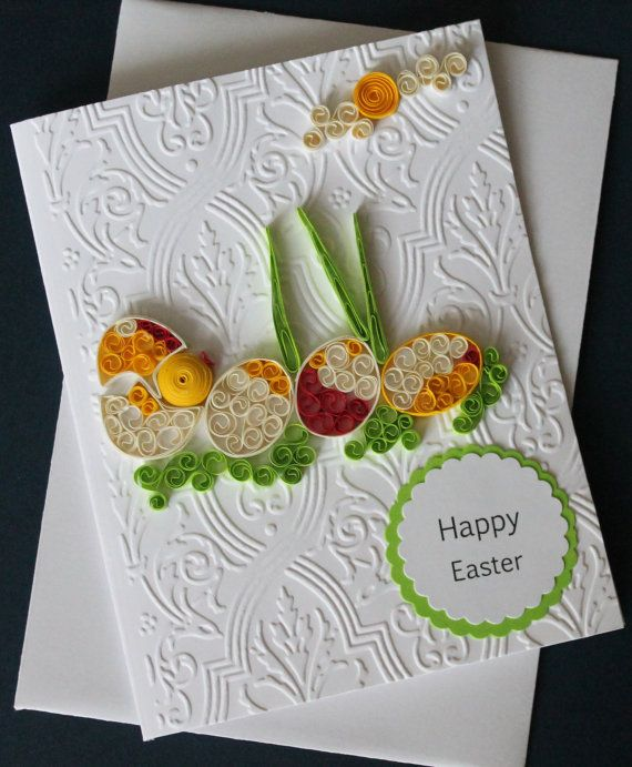 Quilled handmade easter card