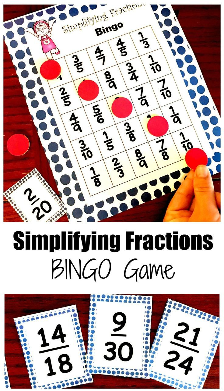 Practice Simplifying Fractions With This Free Simplifying Fractions Game Simplifying Fractions Fraction Games Fractions Adding and subtracting fraction bingo