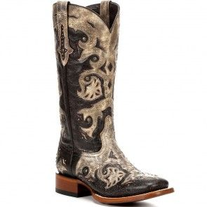 M5811-TWF Lucchese Women's Fiona Western Boots - Tobacco www.bootbay.com