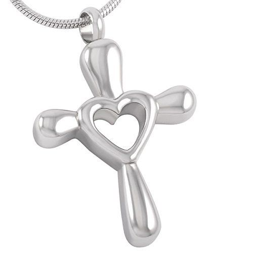 Casket Etcetera Forever in My Heart Cross Remembrance Pendant. 30-Day Money Back Guarantee or Exchange High quality Stainless Steel. SAVE UP TO 30% Buying more than One? DISCOUNT COUPONS ARE DISPLAYED IN SPECIAL OFFERS. Can be Engraved. Hand crafted Urn Necklace, Cremation Jewelry, also known funeral jewelry, memorial jewelry, or remembrance jewelry is used as a remarkable way to memorialize a loved one. It is available in the form of pendants, rings, bracelets, necklaces, lockets, etc. Free…