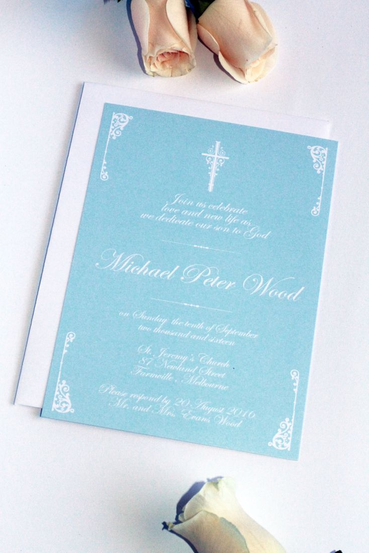 Digital or Printed Boy Baptism Invitation, Christening Invitation, New by Paradise Invitations by ParadiseInvitations on Etsy
