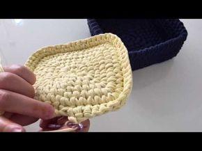 Örgü sepet birleştirme yeri olmadan taban yapımı - YouTube